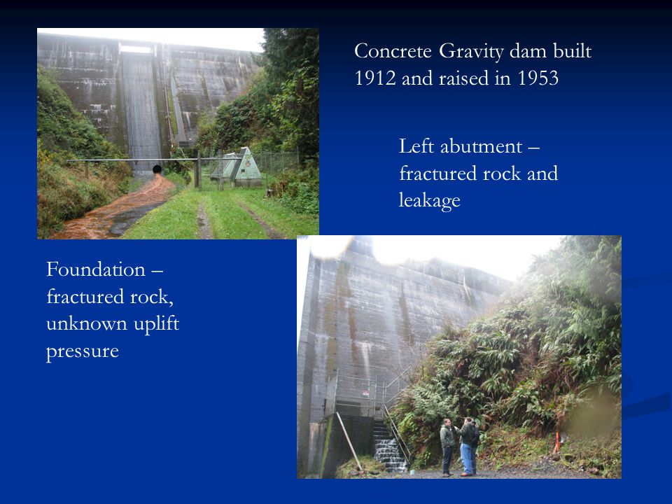 Concrete Gravity dam built 1912 and raised in 1953