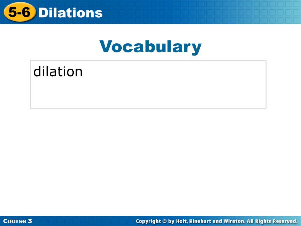 Vocabulary dilation