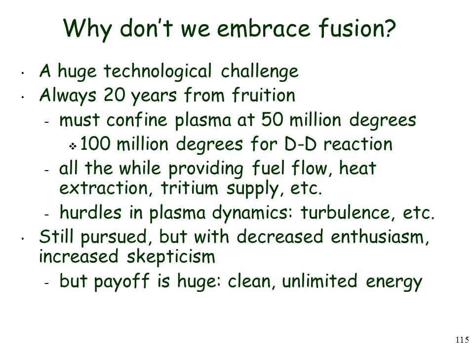 Why don't we embrace fusion