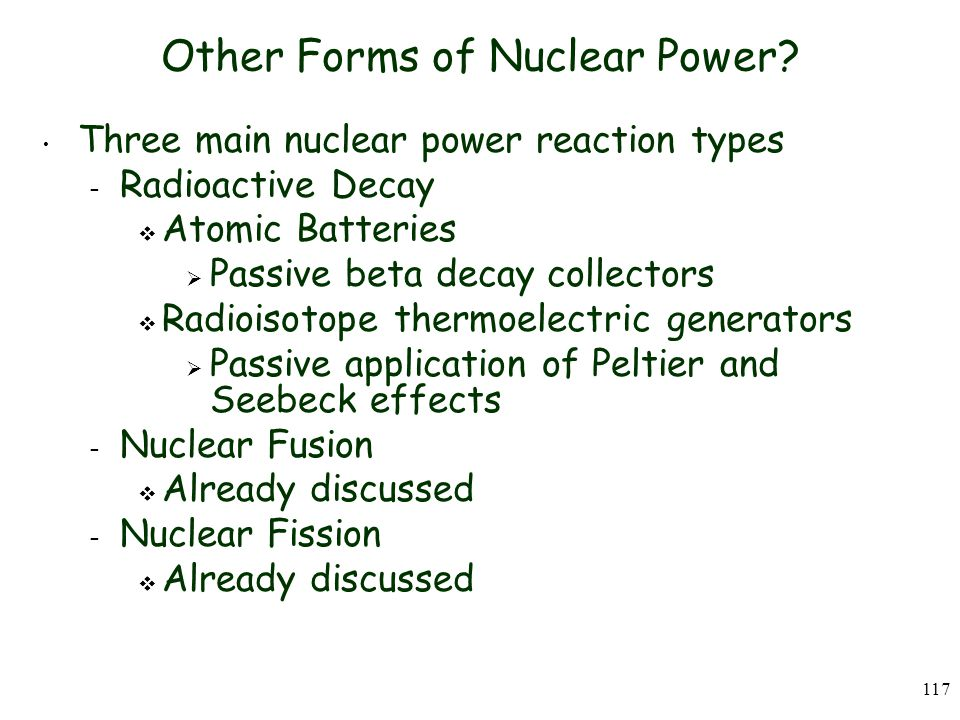 Other Forms of Nuclear Power