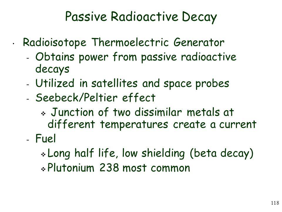 Passive Radioactive Decay