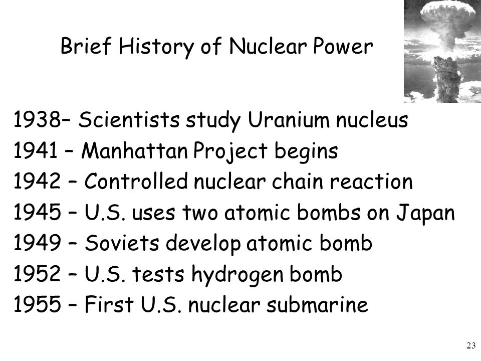 Brief History of Nuclear Power
