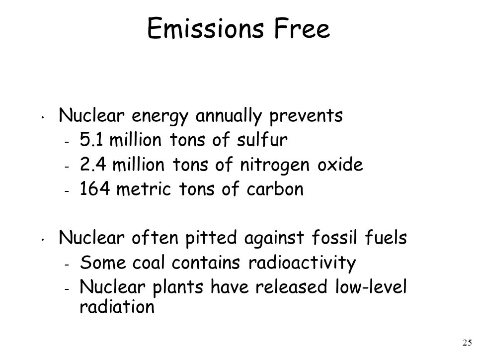 Emissions Free Nuclear energy annually prevents