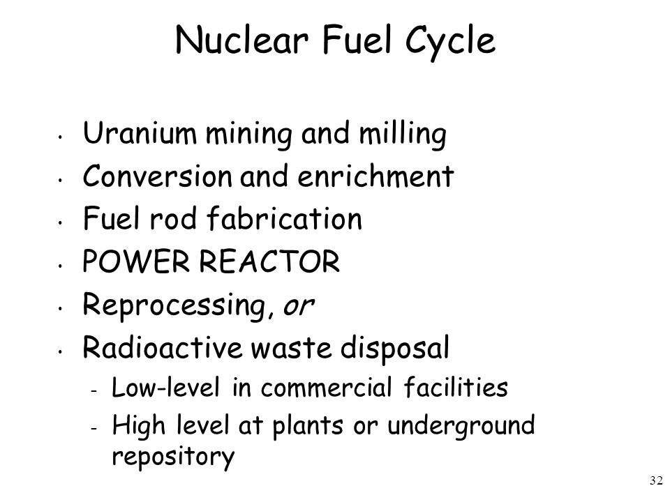 Nuclear Fuel Cycle Uranium mining and milling