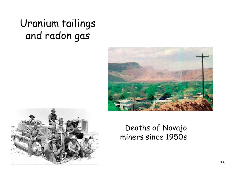 Uranium tailings and radon gas
