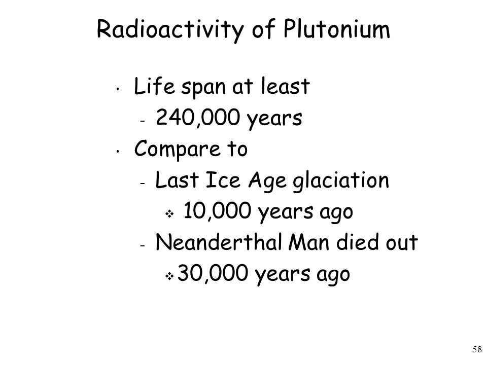 Radioactivity of Plutonium