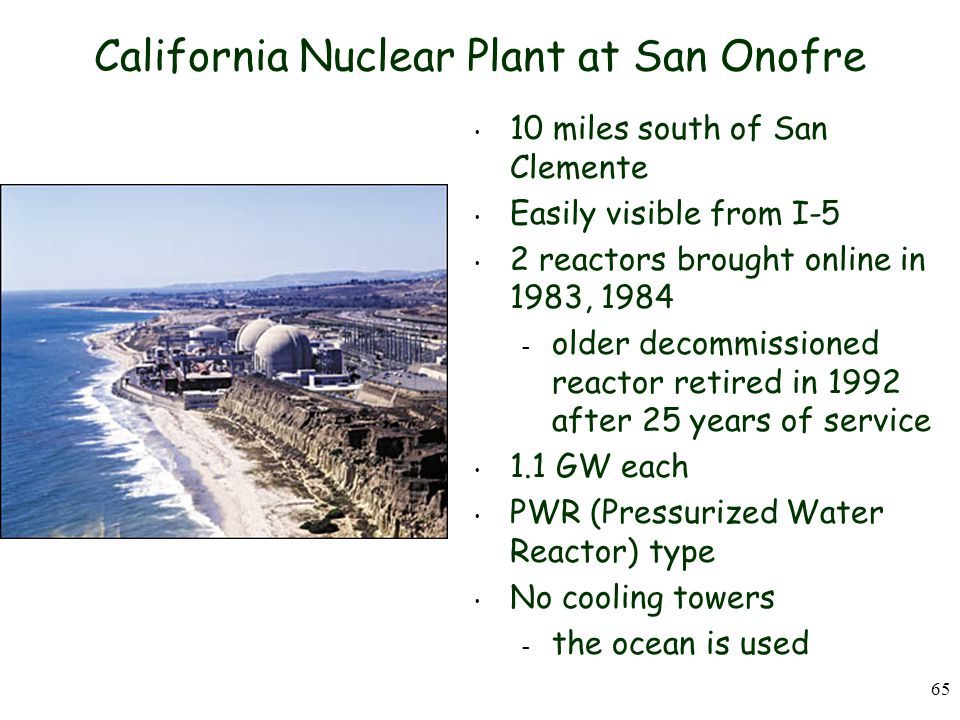 California Nuclear Plant at San Onofre