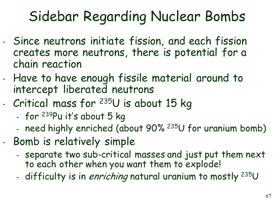 Sidebar Regarding Nuclear Bombs