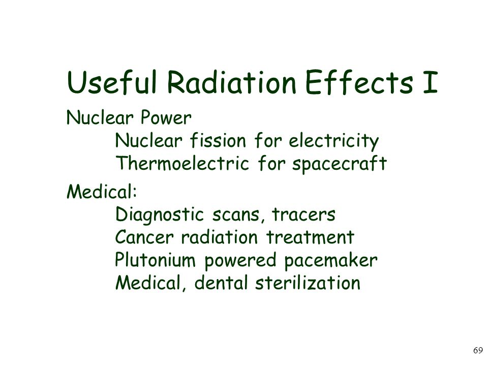 Useful Radiation Effects I Nuclear Power