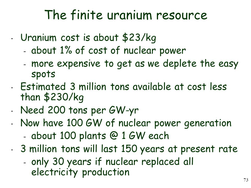 The finite uranium resource