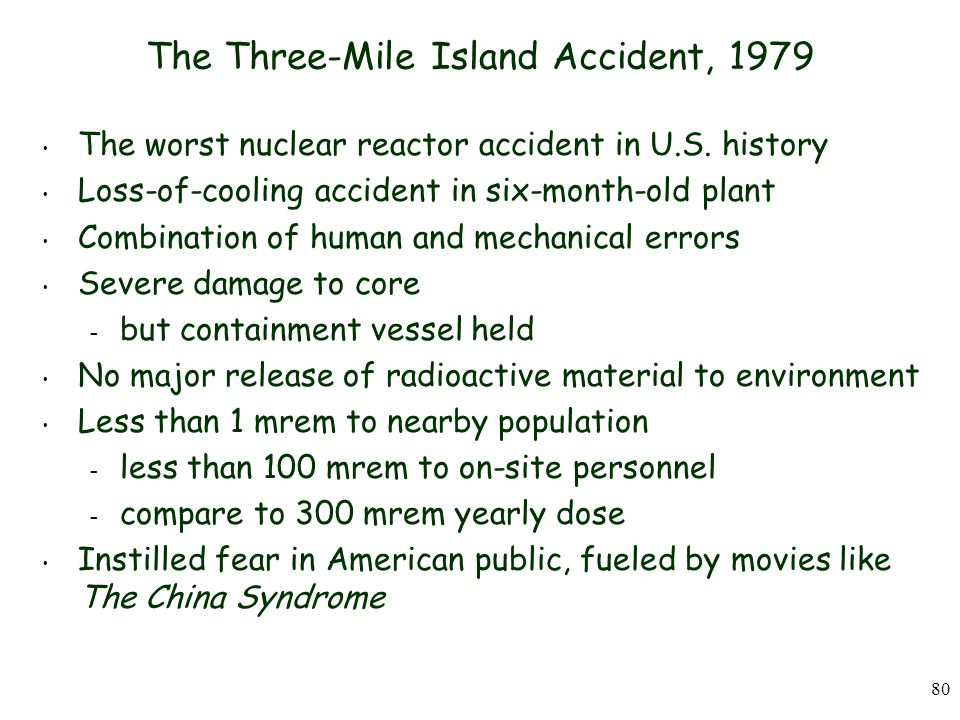 The Three-Mile Island Accident, 1979