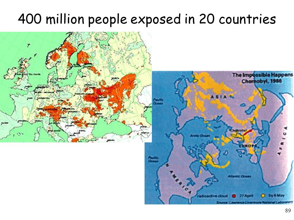 400 million people exposed in 20 countries
