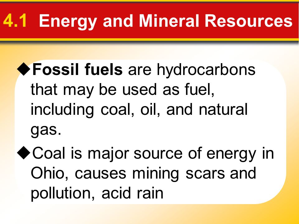 4.1 Energy and Mineral Resources