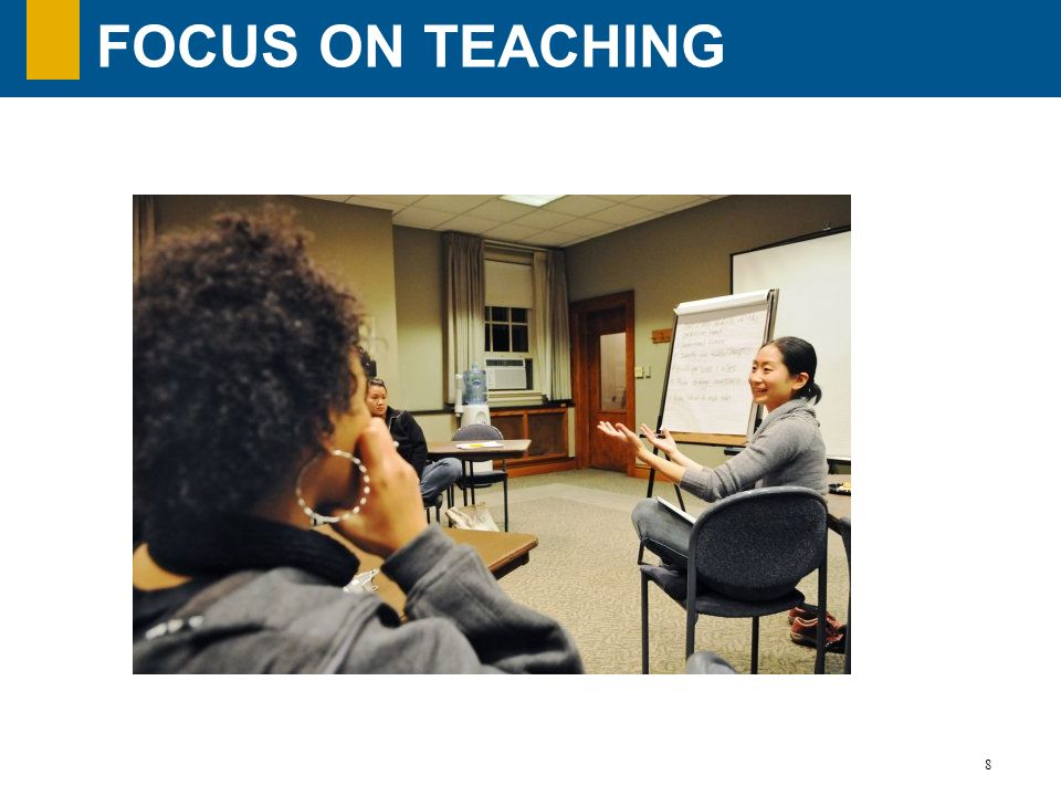 Focus on teaching Focus on teaching