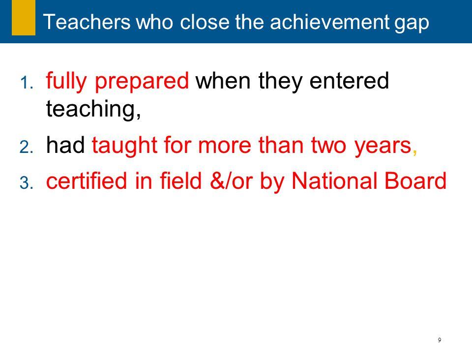 Teachers who close the achievement gap