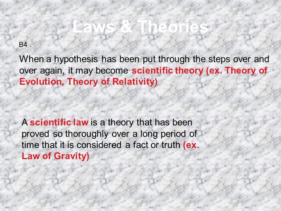 Laws & Theories B4.
