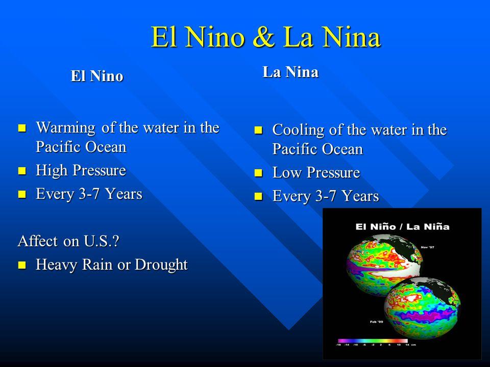 El Nino & La Nina La Nina El Nino