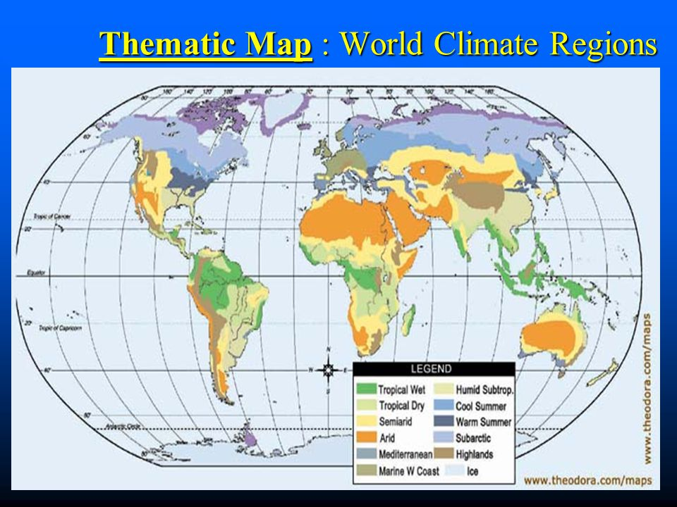 Thematic Map : World Climate Regions