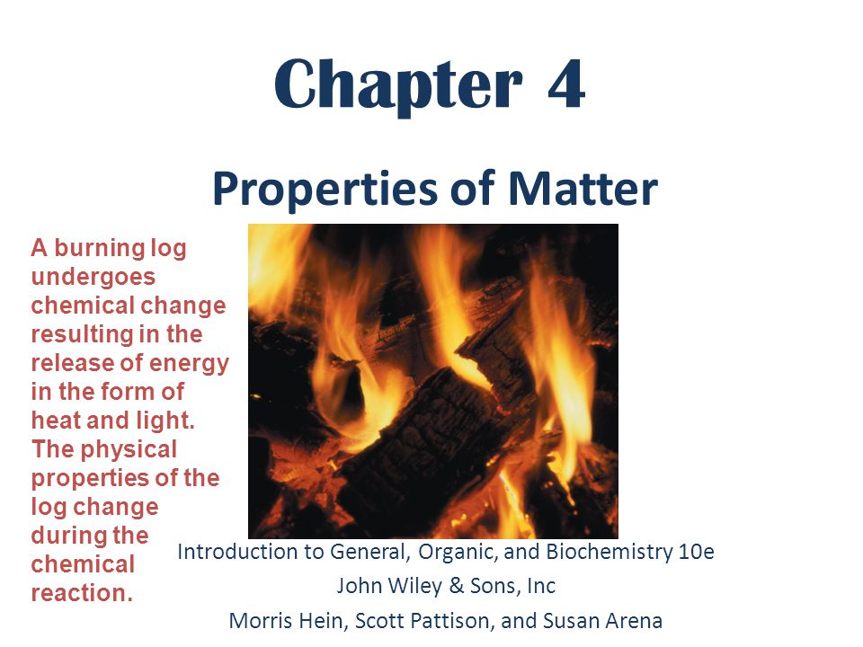 Chapter 4 Properties of Matter