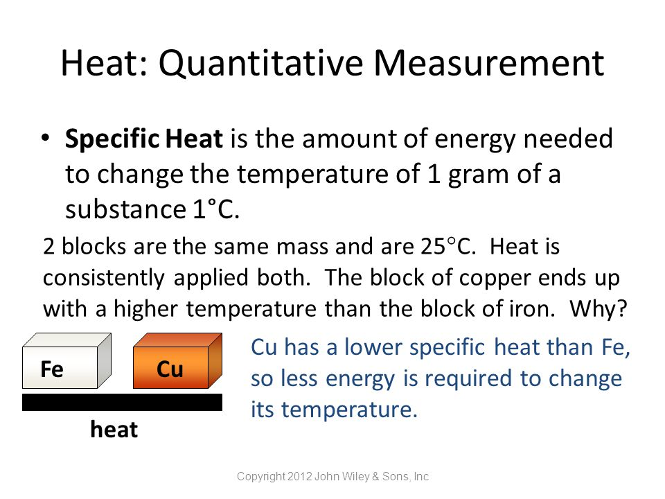 Heat: Quantitative Measurement
