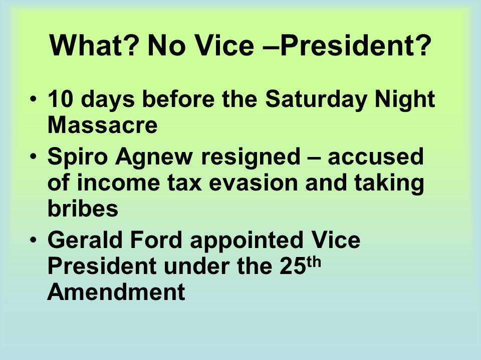 What No Vice –President