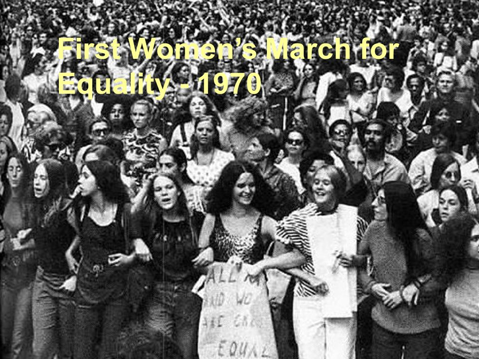 First Women's March for Equality - 1970