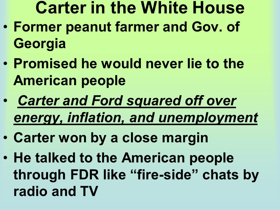 Carter in the White House