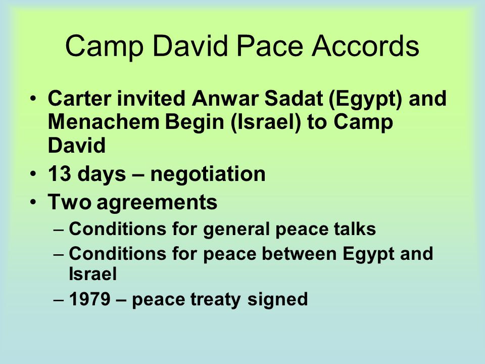 Camp David Pace Accords