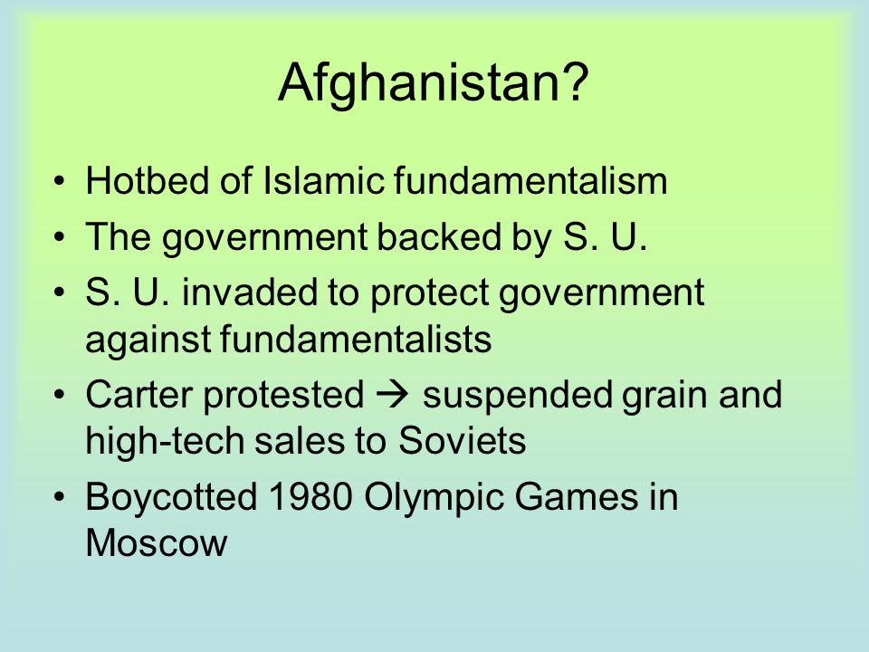 Afghanistan Hotbed of Islamic fundamentalism