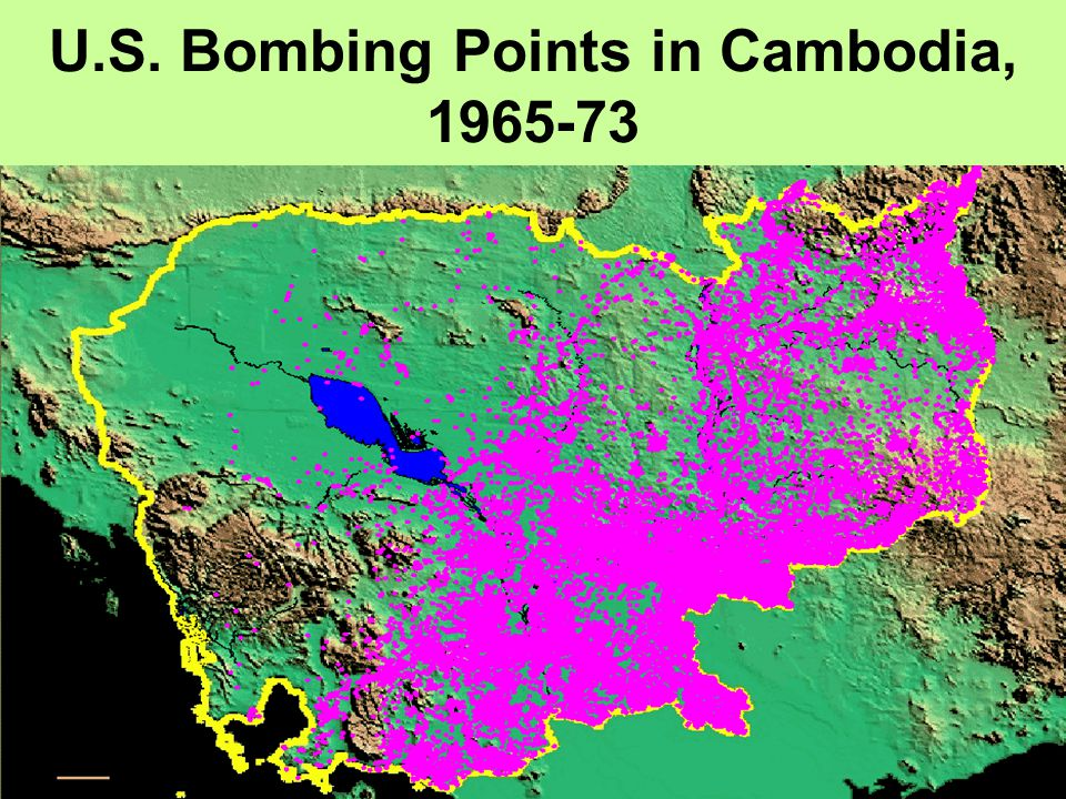U.S. Bombing Points in Cambodia, 1965-73