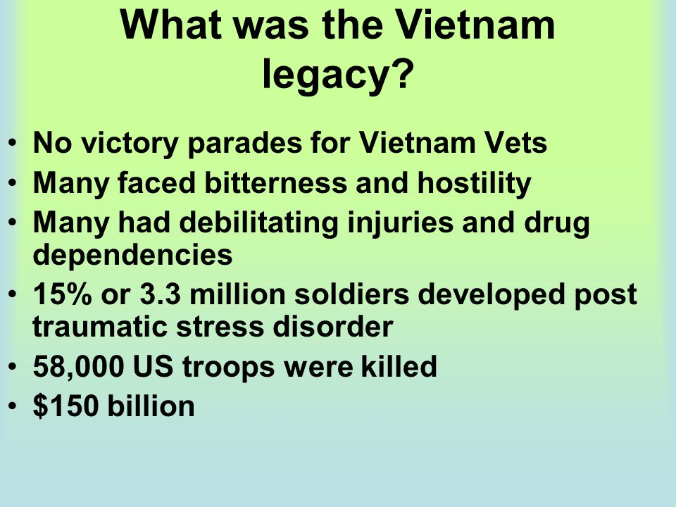 What was the Vietnam legacy