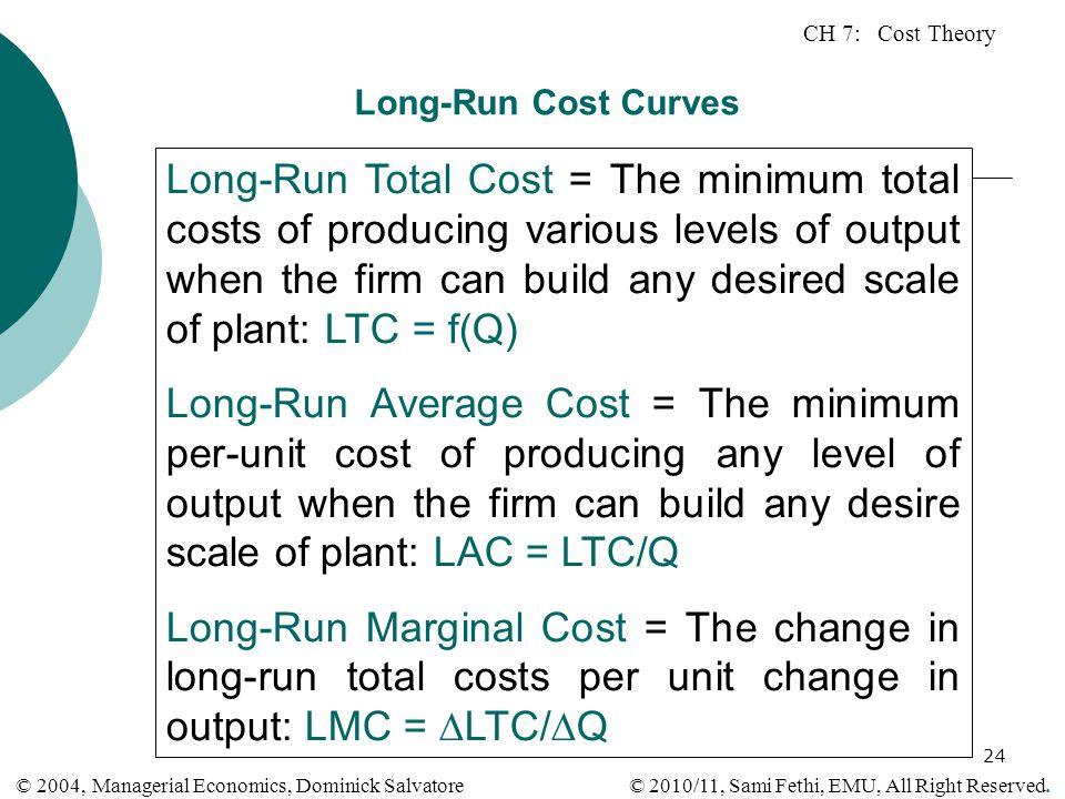 Long-Run Cost Curves