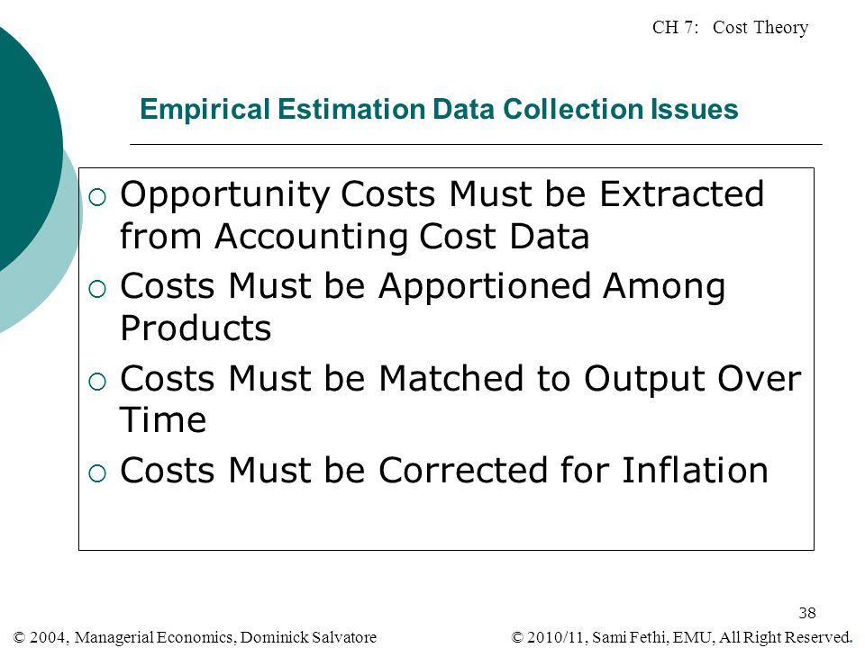 Empirical Estimation Data Collection Issues