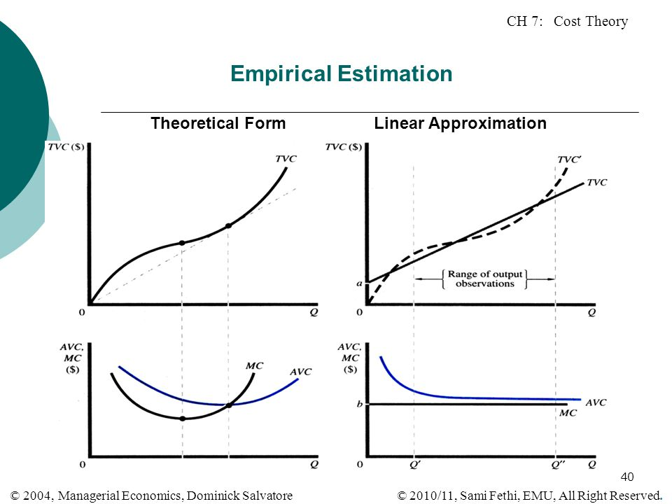 Empirical Estimation Theoretical Form Linear Approximation
