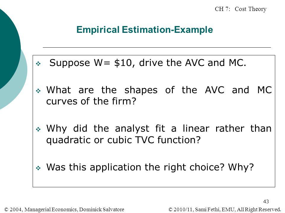 Empirical Estimation-Example