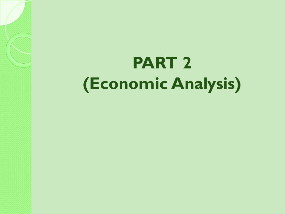 (Economic Analysis)