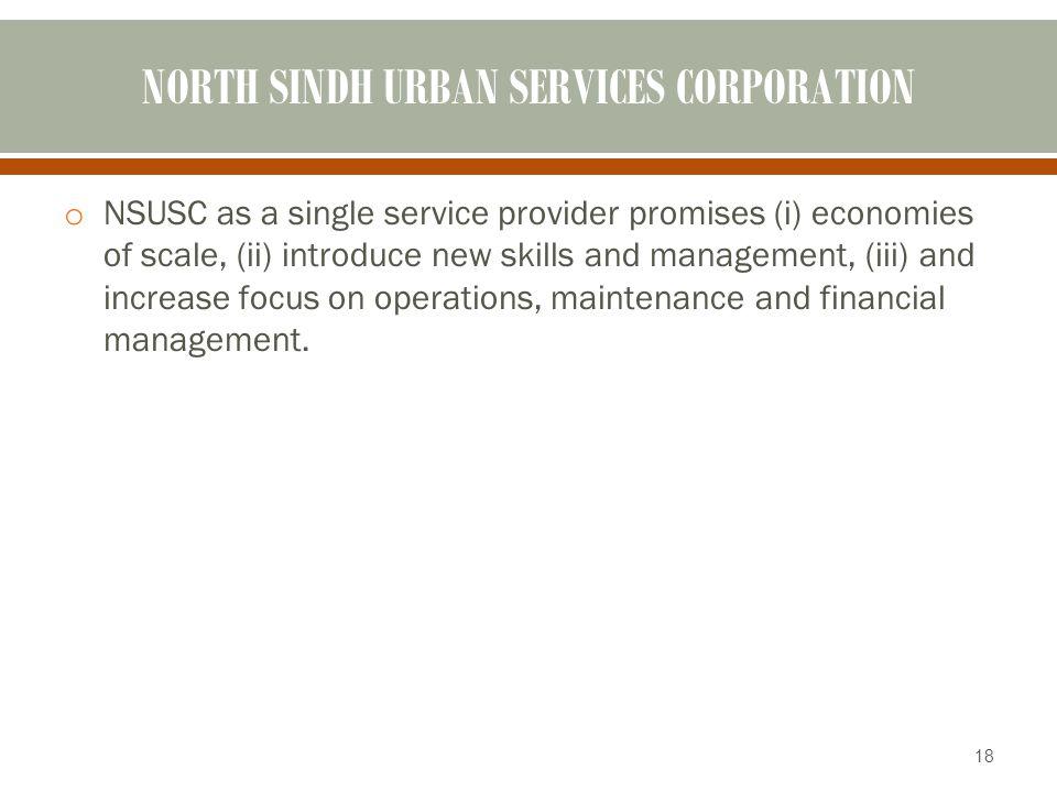 NORTH SINDH URBAN SERVICES CORPORATION