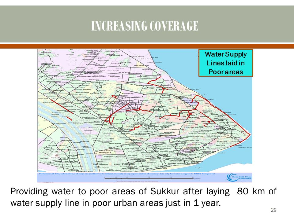 Water Supply Lines laid in Poor areas