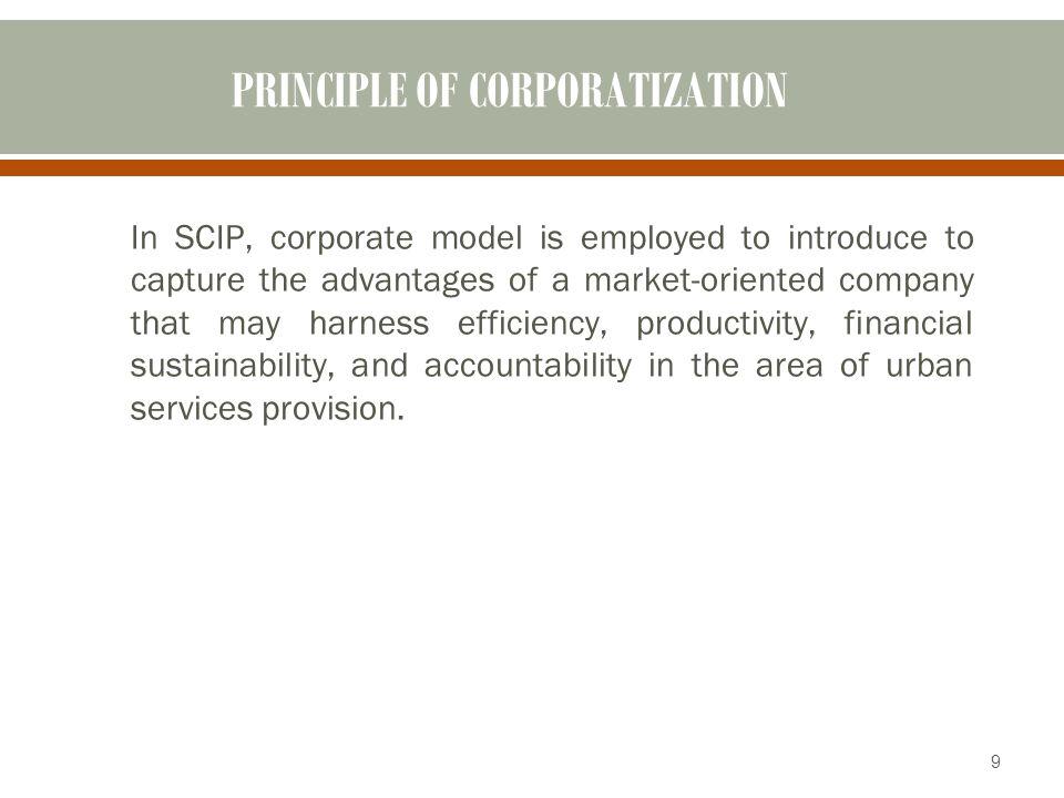 PRINCIPLE OF CORPORATIZATION