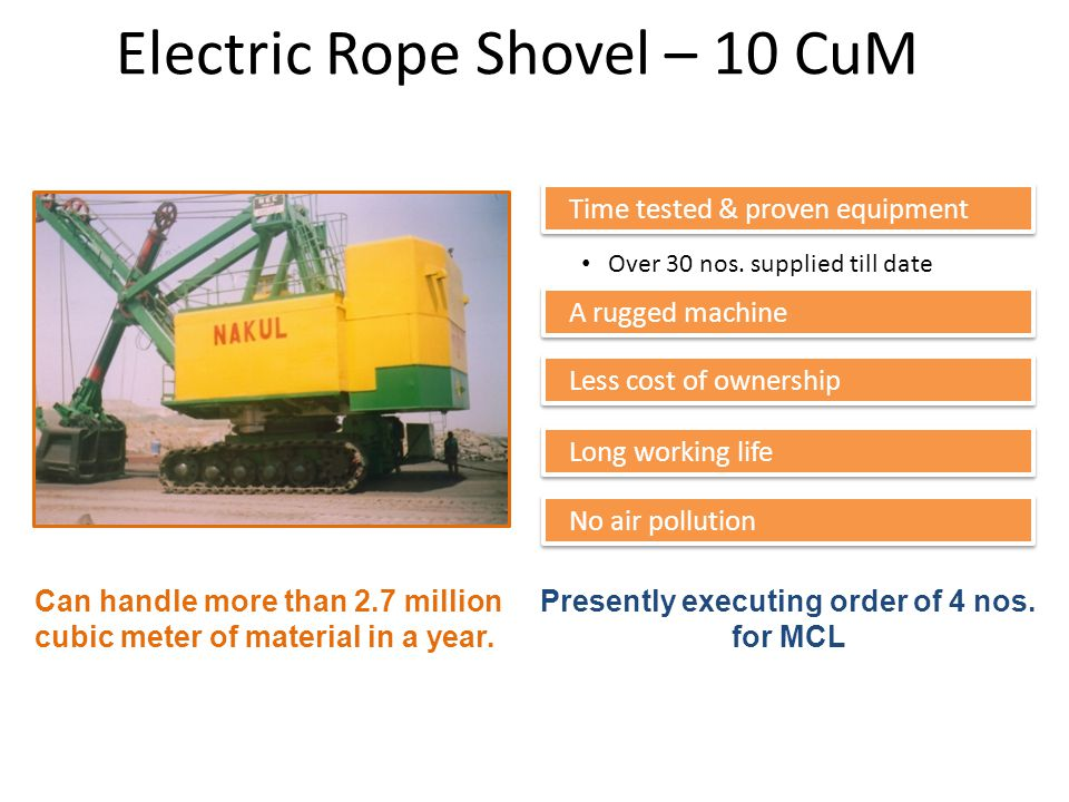 Electric Rope Shovel – 10 CuM