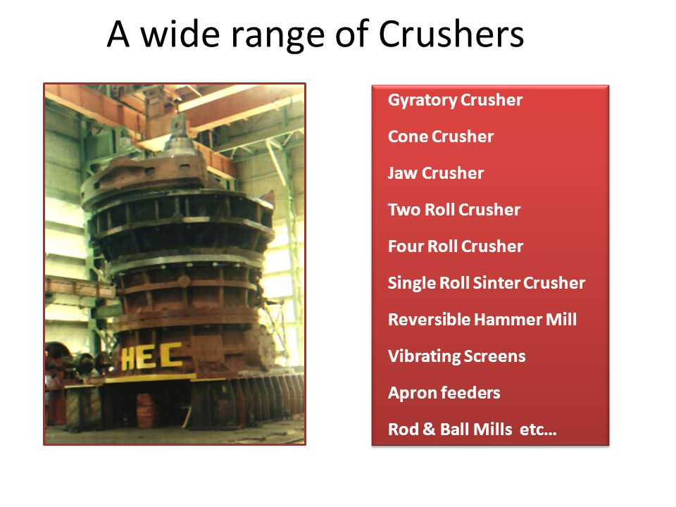 A wide range of Crushers