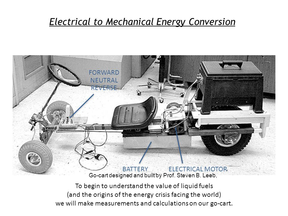 Electrical to Mechanical Energy Conversion