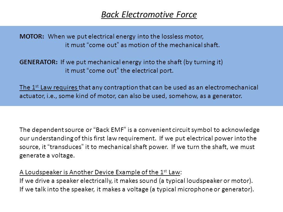 Back Electromotive Force