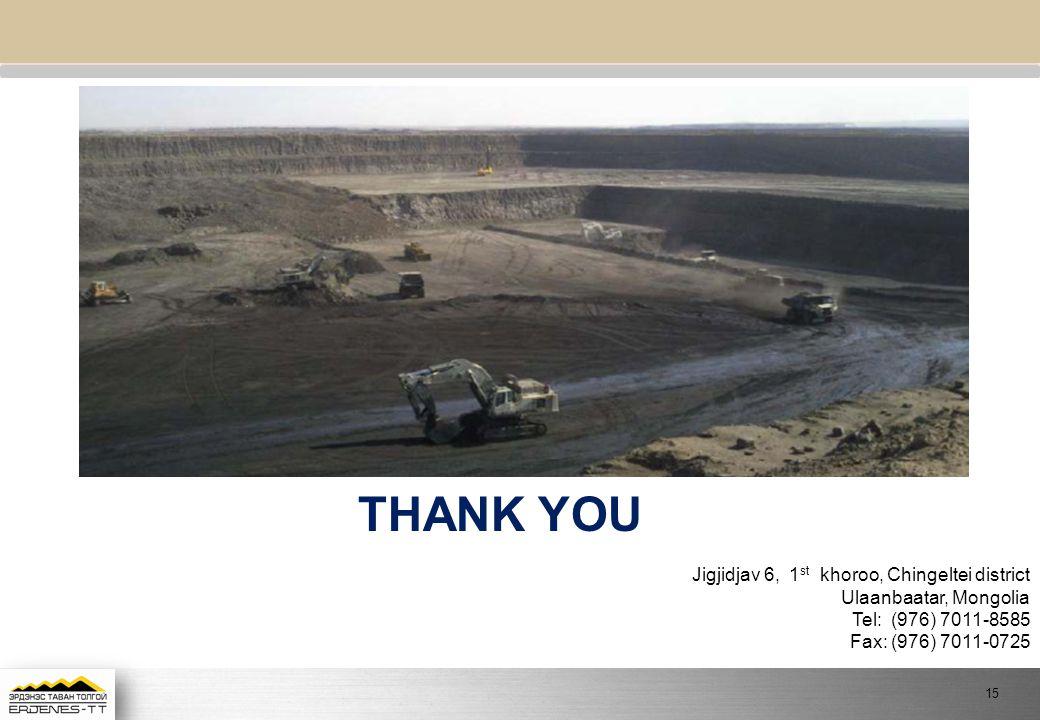 THANK YOU Jigjidjav 6, 1st khoroo, Chingeltei district