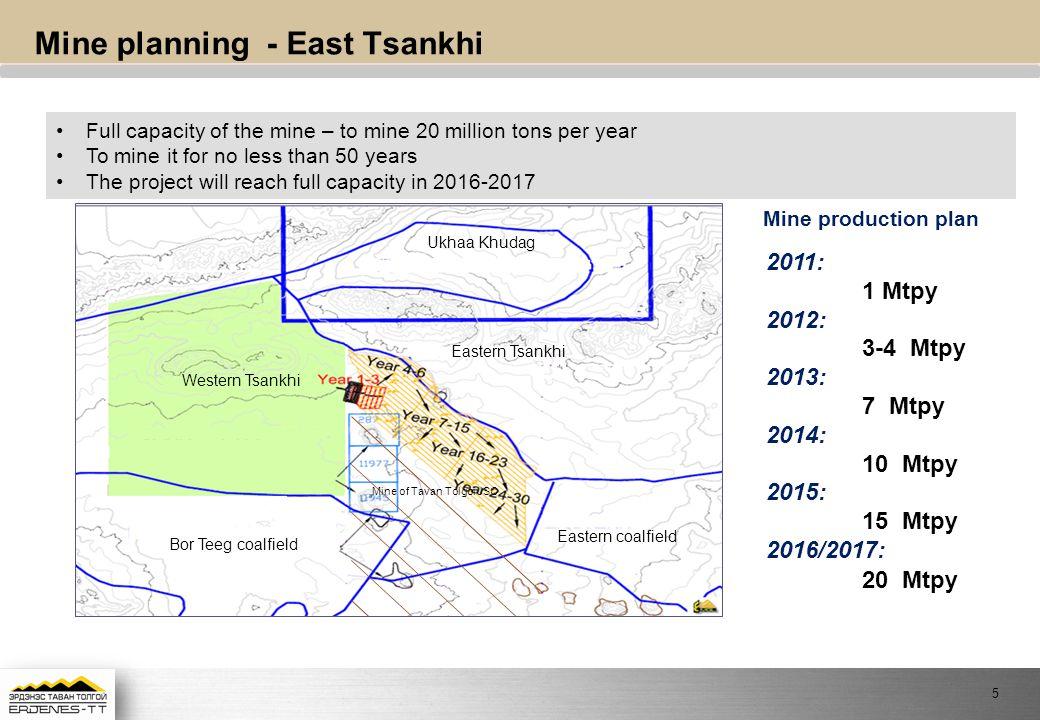 Mine planning - East Tsankhi
