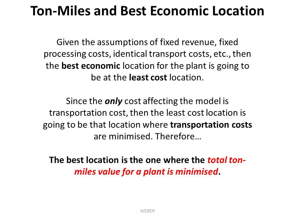 Ton-Miles and Best Economic Location