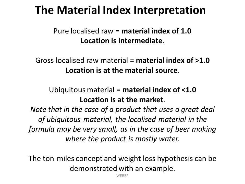 The Material Index Interpretation