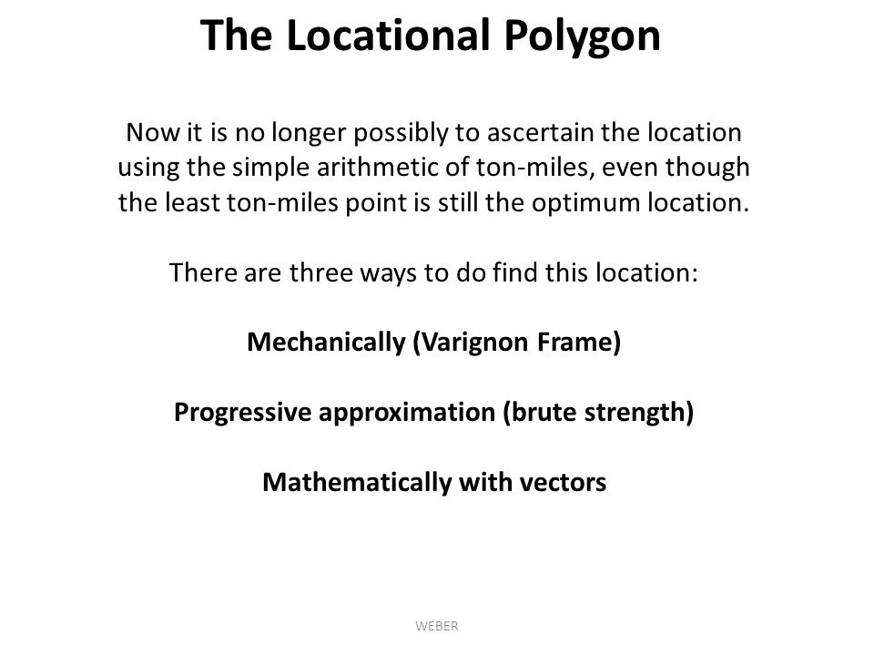 The Locational Polygon