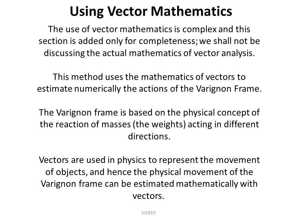 Using Vector Mathematics