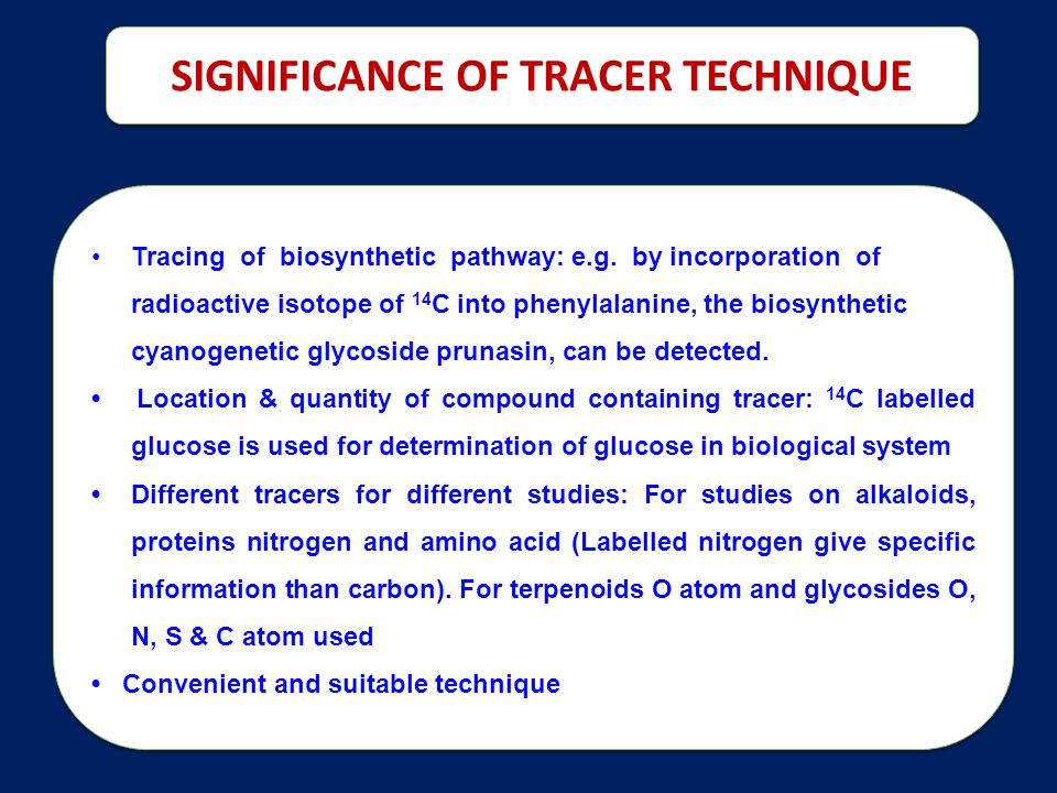 SIGNIFICANCE OF TRACER TECHNIQUE
